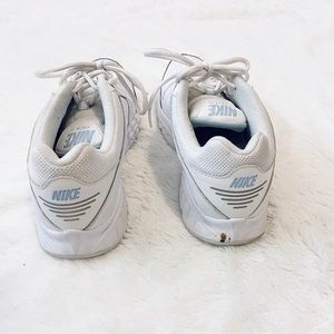 Nike white and blue training shoes